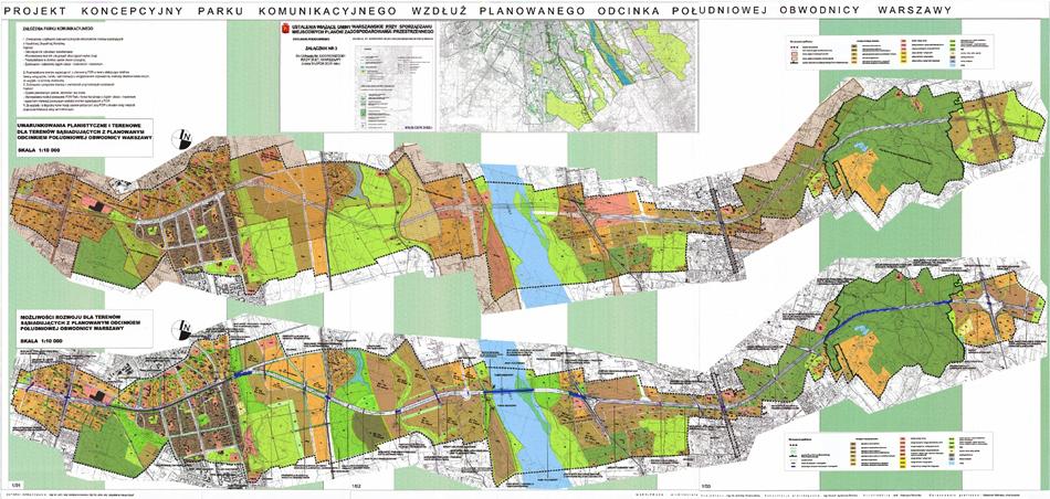 Projekt Parku Komunikacyjnego dla Warszawy jako zespół działań kompensacyjnych dla planowanej obwodnicy miejskiej