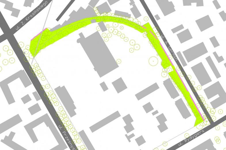 Nowy zieleniec śladami dawnej linii kolejowej na Żoliborzu Południowym