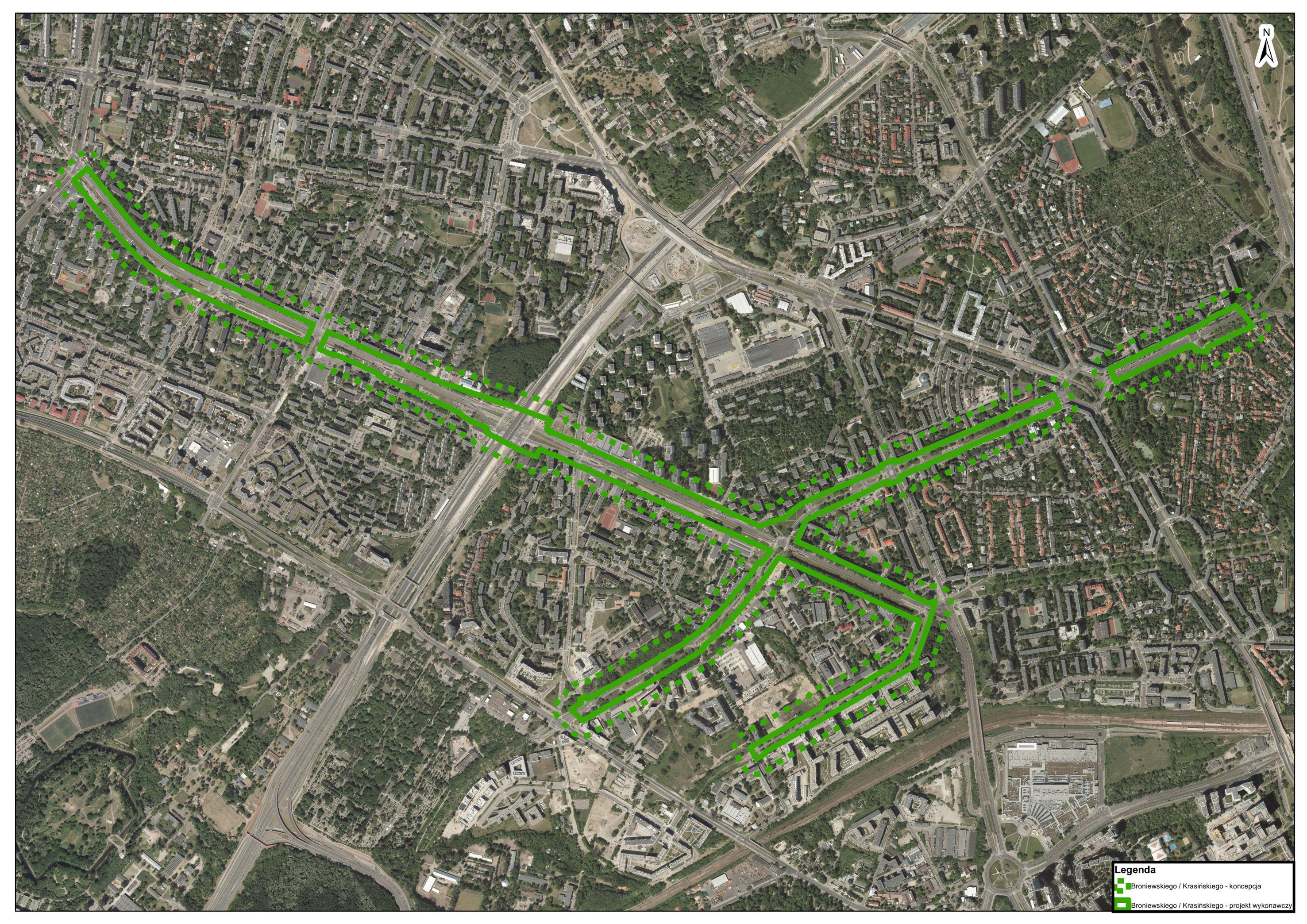 Zielone ulice Warszawy – zadanie A7: Broniewskiego – Krasińskiego